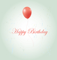 greeting card with a birthday vector image vector image