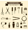 Hairdressing tools and products vector image vector image