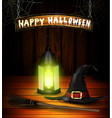 halloween background realistic with heat isolated vector image