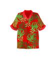 hawaiian aloha shirt on a vector image