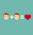 homosexual couple in love vector image