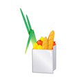 icon groceries bag vector image vector image