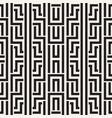 interlacing lines maze lattice ethnic monochrome vector image vector image