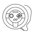Isolated videogame wheel design vector image vector image
