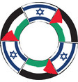 israel and palestine flags or banner vector image vector image