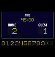 led digital scoreboard vector image vector image