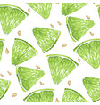 lime slices and seeds seamless pattern set in vector image vector image