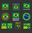 made in brazil icon set product labels of vector image vector image