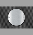 metal perforated background with round brushed vector image