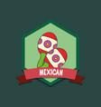 mexican maracas design vector image