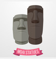 moai statues icon on white background vector image vector image
