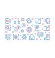 mobile application development linear vector image
