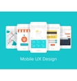 Mobile UX vector image vector image