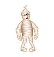 Mummy for Halloween isolated vector image