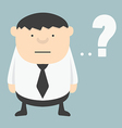 Obese Businessman with Question mark vector image
