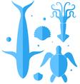 Ocean Icon set vector image