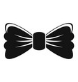 old bow tie icon simple style vector image