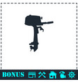 outboard boat motor icon flat vector image vector image