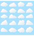 Paper clouds on a blue background Eps 10 vector image vector image