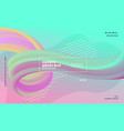 pastel colors abstract wave liquid flow poster vector image vector image