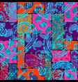 patchwork pattern with paisley ornament patterns vector image vector image