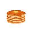 pile homemade pancakes isolated vector image