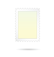 post stamp on white background vector image vector image