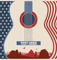 poster of concert music festival with guitar vector image vector image