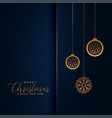 premium christmas festival greeting in royal blue vector image