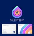 rainbow drop logo laundry dry-clean helix vector image vector image