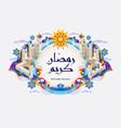 ramadan kareem colorful background vector image vector image