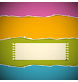 Retro Torn Paper Background vector image vector image