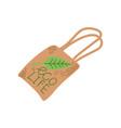 reusable eco bag zero waste object eco lifestyle vector image