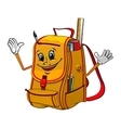 School backpack character with supplies vector image vector image