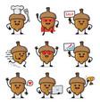 set acorn character design