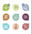 set of modern stickers and badges vector image vector image