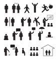 sign of people life setbusinessman group work vector image