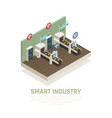 smart industry concept vector image vector image