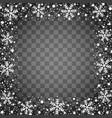 snow border frame christmas texture isolated vector image