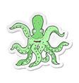 sticker of a cartoon giant octopus vector image