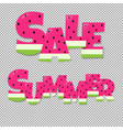 summer and sale text vector image vector image