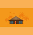 summer holidays flat bungalow vector image vector image