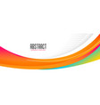wavy abstract orange shape wide banner design vector image vector image