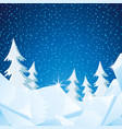 winter nature with ice and trees vector image vector image
