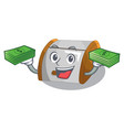 with money container food bread bin in store vector image vector image