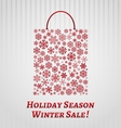 Christmas background with a shopping bag vector image
