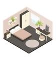 3d Isometric Bedroom Interior vector image vector image