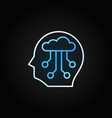ai head colored line icon on dark vector image