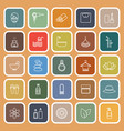 beauty line flat icons on orange background vector image
