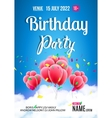 Birthday party poster Sky clouds happy birthday vector image vector image